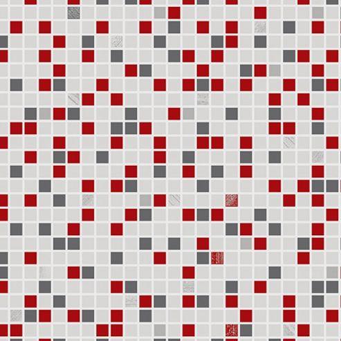 Buy Contour Checkered Tile Effect Kitchen Bathroom Red Grey White