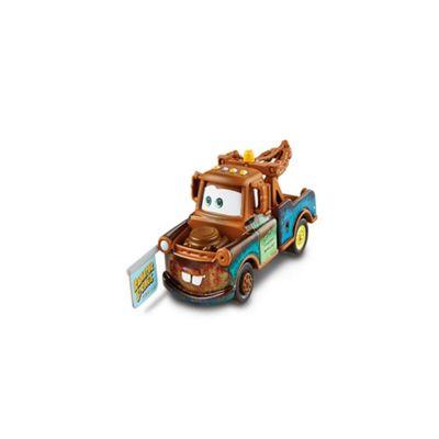 Disney Pixar Cars Diecast Mater with Sign