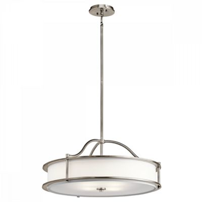 Classic Pewter 4lt Chandelier/Semi Flush - 4 x 100W E27