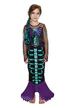 F&F Skeleton Mermaid Halloween Costume - Black