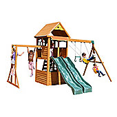 Selwood Wren Climbing Frame - Two Slides, Swings & Monkey Bars