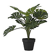 Bahne Decorative Faux Monstera in Pot 45cm Tall