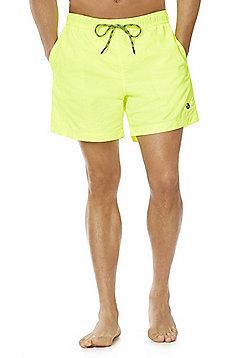F&F Neon Palm Patch Swim Shorts - Neon Yellow