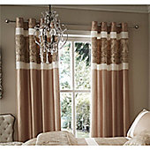 Catherine Lansfield Glamour Jacquard Curtains - Gold