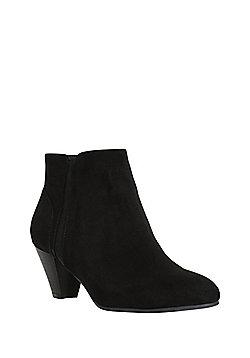 F&F Cone Heel Shoe Boots - Black