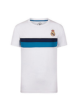 Real Madrid Boys Poly T-Shirt - White
