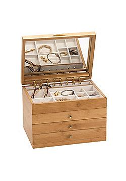 Bamboo Finish Jewellery Box - Large