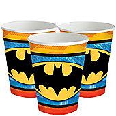Batman Cups - 255ml Paper Party Cups - 8 Pack
