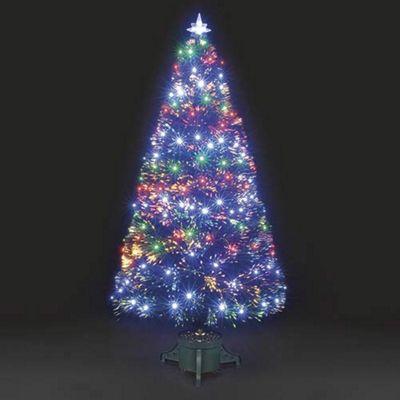 5ft Galaxy Multi-Colour Fibre Optic Christmas Tree with LEDs - Buy 5ft Galaxy Multi-Colour Fibre Optic Christmas Tree With LEDs