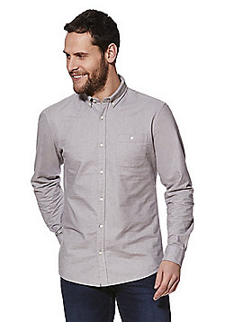 F&F Long Sleeve Oxford Shirt - Light grey