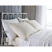 Bianca Cotton Soft 190gsm Brushed Flannelette Flat Sheet - White