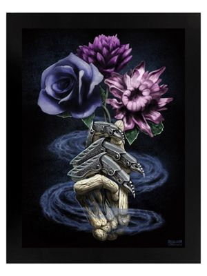 Requiem Collective Death's Bouquet Black Wooden Framed Mini Poster 35x42cm