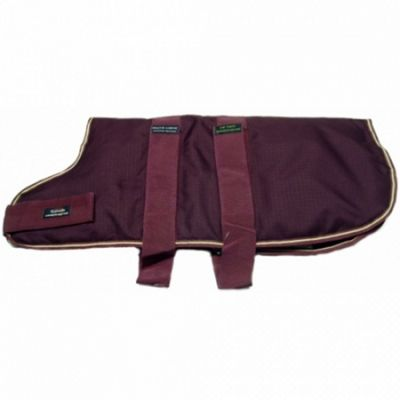 Outhwaite Waterproof Dog Coat Padded Lining - Maroon 65cm