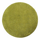 Homescapes Hand Tufted Plain Cotton Green Large Round Rug, 70 cm Diametre