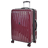 IT Luggage Gloss 8 wheel Hard Shell Zinfandel Purple Medium Suitcase