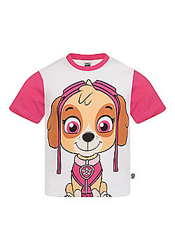 PAW Patrol Boys Kids Character T-Shirt Rocky Chase Rubble - Pink