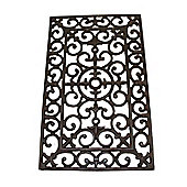 Homescapes Brown Rectangular Country Design Doormat Cast Iron