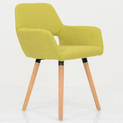 Stockholm Lime Green Fabric Dining Chair