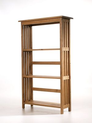Home Essence Burleigh Slatted Side Tall Bookcase