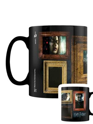 Harry Potter Portraits Heat Changing 10oz Ceramic Mug, Black