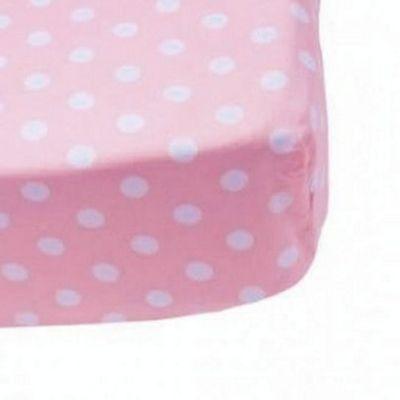 Best Friends, Pink Spotty Fitted Sheet - Junior