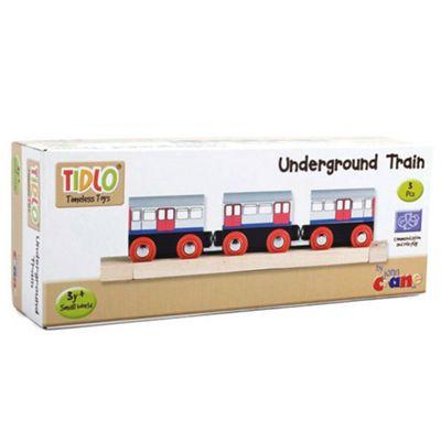 Tidlo Wooden Underground Train