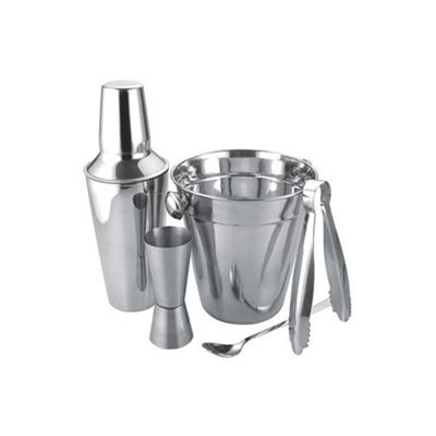 Apollo Housewares Cocktail Set, Stainless Steel Construction, Barware Accessories