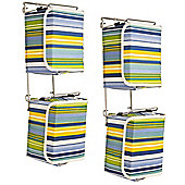 Stripe - Contemporary Wall Mounted Canvas 40 Dvd Blu-ray Storage Boxes