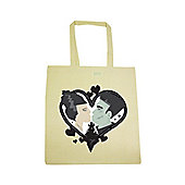 Monstrous Love Cream Tote Bag