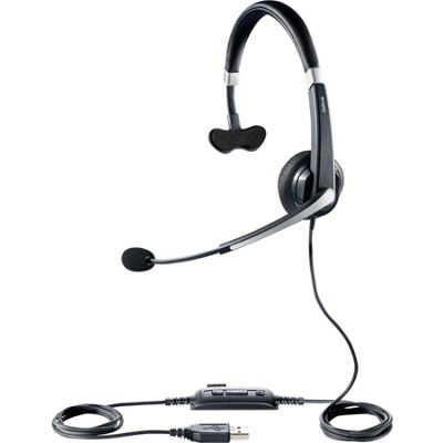 Jabra UC Voice 550 Wired Mono Headset - Over-the-head - Semi-open - Black
