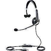 Jabra UC Voice 550 Wired Mono Headset - Over-the-head - Semi-open - Black