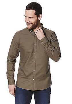 F&F Long Sleeve Oxford Shirt - Khaki