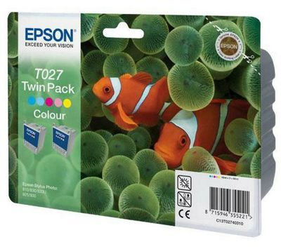 Epson Colour Ink Cartridges Twinpack