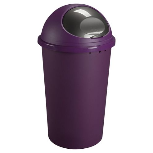 Tesco 25L Bullet Bin Purple