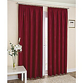 Enhanced Living Galaxy Pencil Pleat Curtains - Red