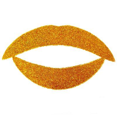 Temporary Lip Tattoos - Gold Glitter
