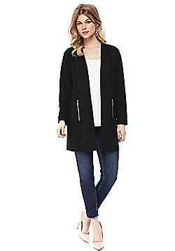Wallis Petite Long Line Jacket - Black