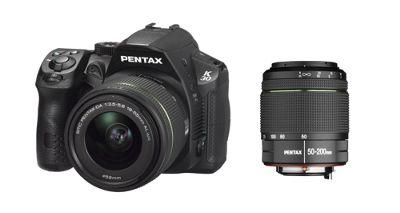 DS Pentax K-30 SLR Camera 18-55mm, 50-200mm Black 16MP 3.0LCD FHD