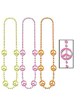 Three Sixty Degrees - Bead Necklace - Funky Peace Sign