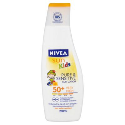 Nivea Sun Childrens Pure & Sensitive Lotion PSF 50 200ML