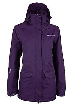 Glacier Extreme Womens Long Waterproof Jacket - Purple