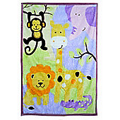 Todd Baby 'Animal Safari' Panel Fleece Blanket