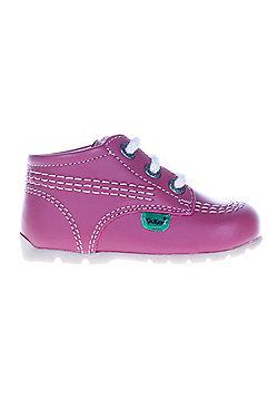 Kickers Kick Hi Baby Toddler School Shoe Boot Pink - Pink