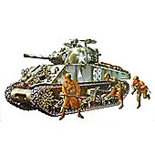 U.S. Medium Tank M4A3 Sherman 105mm Howitzer - 1:35 Scale Military - Tamiya
