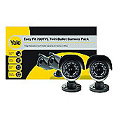 Yale SCH-85B40B 700 TVL Day & Night Outdoor Bullet Camera (Twin Pack)