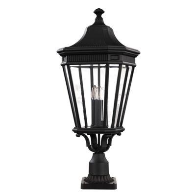 Black Large Pedestal - 3 x 60W E14