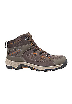 Mountain Warehouse Mens Waterproof Boots with Leather Suede and Mesh Lining - Orange