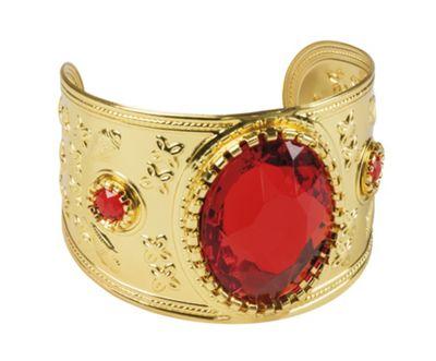 Adults Unisex Egyptian Style Persian Garnet Bracelet Fancy Dress Accessory