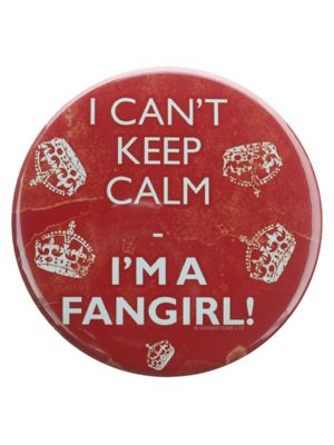 I Can't Keep Calm I'm A Fangirl! Red Badge
