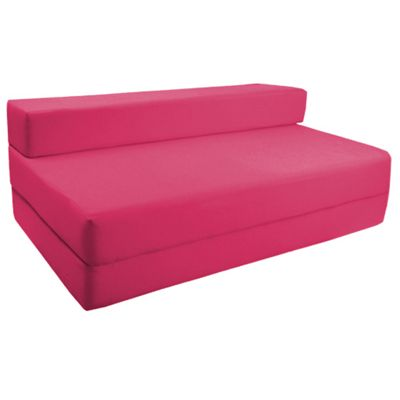 Pink Fold Out Waterproof Double Guest Z Bed Chair Folding Mattress Sofa Bed Futon